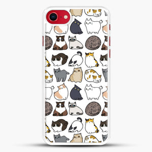 Cats Cats Cats iPhone 8 Case, White Rubber Case | JoeYellow.com