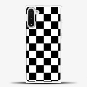 Checkered Black And White Samsung Galaxy Note 10 Case