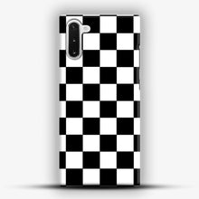 Load image into Gallery viewer, Checkered Black And White Samsung Galaxy Note 10 Case