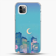 Load image into Gallery viewer, Classic Shoujo Skies iPhone 11 Pro Max Case, White Plastic Case | JoeYellow.com