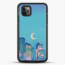 Load image into Gallery viewer, Classic Shoujo Skies iPhone 11 Pro Max Case, Black Rubber Case | JoeYellow.com