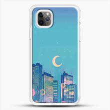 Load image into Gallery viewer, Classic Shoujo Skies iPhone 11 Pro Max Case, White Rubber Case | JoeYellow.com