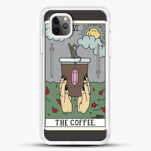 Coffee Reading iPhone 11 Pro Max Case, White Rubber Case | JoeYellow.com