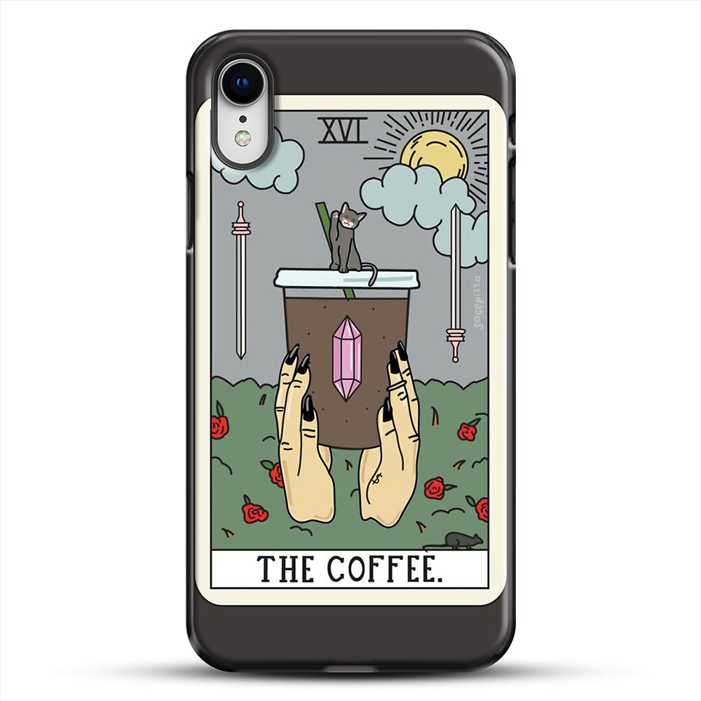 Coffee Reading iPhone XR Case, Black Plastic Case | JoeYellow.com