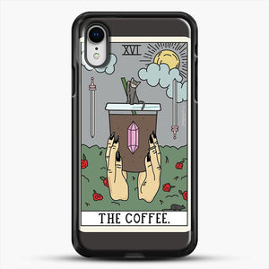 Coffee Reading iPhone XR Case, Black Rubber Case | JoeYellow.com