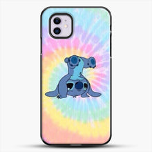 Load image into Gallery viewer, Colorfull Stitch iPhone 11 Case, Black Plastic Case | JoeYellow.com