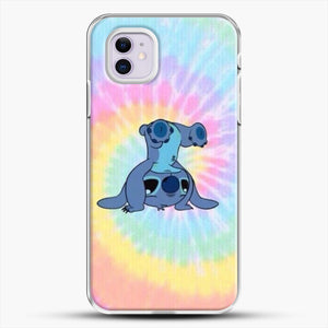 Colorfull Stitch iPhone 11 Case, White Plastic Case | JoeYellow.com