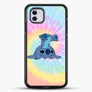 Colorfull Stitch iPhone 11 Case, Black Rubber Case | JoeYellow.com