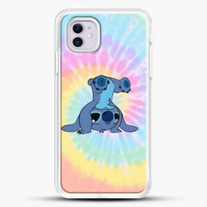 Colorfull Stitch iPhone 11 Case, White Rubber Case | JoeYellow.com