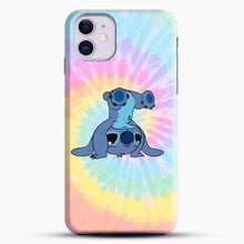 Load image into Gallery viewer, Colorfull Stitch iPhone 11 Case, Black Snap 3D Case | JoeYellow.com