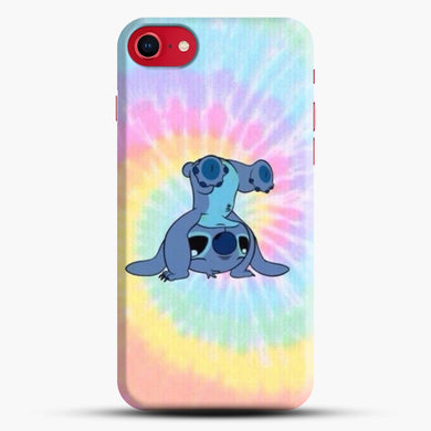 Colorfull Stitch iPhone 8 Case, Black Snap 3D Case | JoeYellow.com
