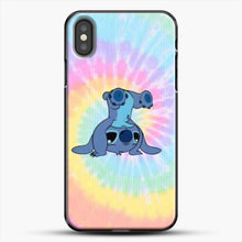Load image into Gallery viewer, Colorfull Stitch iPhone X Case, Black Plastic Case | JoeYellow.com