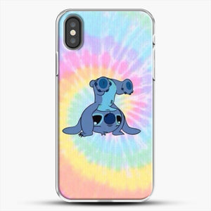Colorfull Stitch iPhone X Case, White Plastic Case | JoeYellow.com
