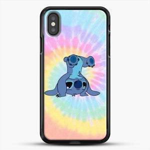 Colorfull Stitch iPhone X Case, Black Rubber Case | JoeYellow.com