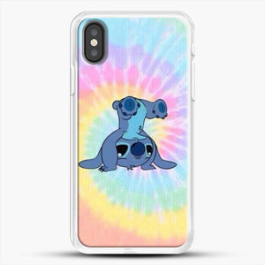 Colorfull Stitch iPhone X Case, White Rubber Case | JoeYellow.com