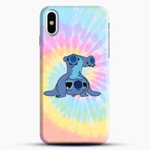 Load image into Gallery viewer, Colorfull Stitch iPhone X Case, Black Snap 3D Case | JoeYellow.com