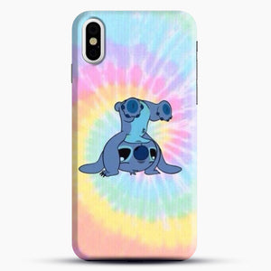 Colorfull Stitch iPhone X Case, Black Snap 3D Case | JoeYellow.com
