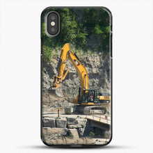 Load image into Gallery viewer, Construction Big Cat iPhone X Case, Black Plastic Case | JoeYellow.com