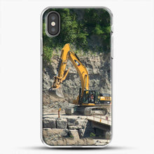 Load image into Gallery viewer, Construction Big Cat iPhone X Case, White Plastic Case | JoeYellow.com