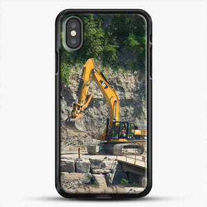 Construction Big Cat iPhone X Case, Black Rubber Case | JoeYellow.com