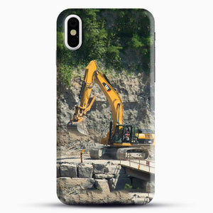 Construction Big Cat iPhone X Case, Black Snap 3D Case | JoeYellow.com