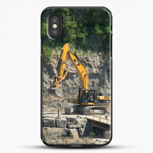 Load image into Gallery viewer, Construction Big Cat iPhone XS Case, Black Plastic Case | JoeYellow.com