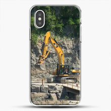 Load image into Gallery viewer, Construction Big Cat iPhone XS Case, White Plastic Case | JoeYellow.com