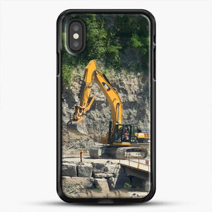 Construction Big Cat iPhone XS Case, Black Rubber Case | JoeYellow.com