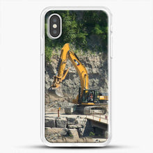 Load image into Gallery viewer, Construction Big Cat iPhone XS Case, White Rubber Case | JoeYellow.com