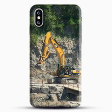 Load image into Gallery viewer, Construction Big Cat iPhone XS Case, Black Snap 3D Case | JoeYellow.com