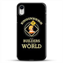 Load image into Gallery viewer, Construction Engineering iPhone XR Case, Black Plastic Case | JoeYellow.com