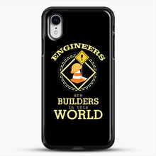 Load image into Gallery viewer, Construction Engineering iPhone XR Case, Black Rubber Case | JoeYellow.com