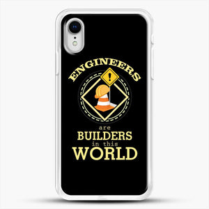 Construction Engineering iPhone XR Case, White Rubber Case | JoeYellow.com