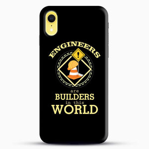 Construction Engineering iPhone XR Case, Black Snap 3D Case | JoeYellow.com