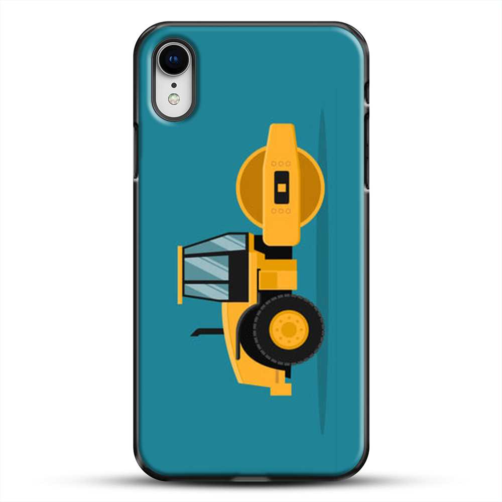 Construction Heavy Machinery iPhone XR Case, Black Plastic Case | JoeYellow.com