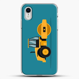 Construction Heavy Machinery iPhone XR Case, White Plastic Case | JoeYellow.com