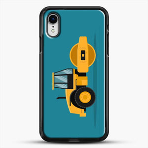 Construction Heavy Machinery iPhone XR Case, Black Rubber Case | JoeYellow.com