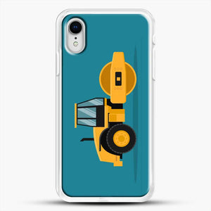 Construction Heavy Machinery iPhone XR Case, White Rubber Case | JoeYellow.com