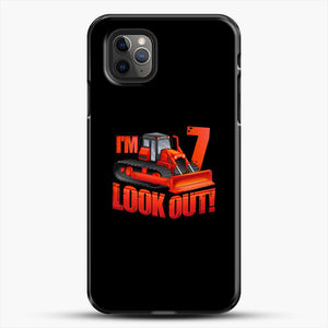 Construction Im Look Out iPhone 11 Pro Max Case, Black Plastic Case | JoeYellow.com