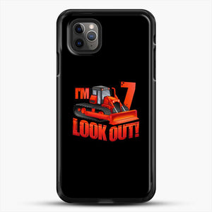 Construction Im Look Out iPhone 11 Pro Max Case, Black Rubber Case | JoeYellow.com