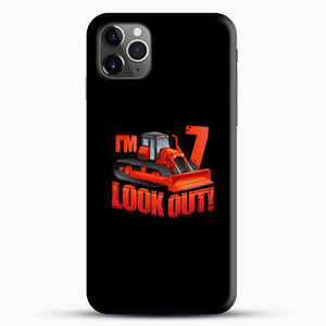 Construction Im Look Out iPhone 11 Pro Max Case, Black Snap 3D Case | JoeYellow.com