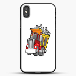 Construction Kid Dump Truck iPhone X Case, Black Plastic Case | JoeYellow.com