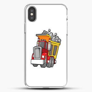 Construction Kid Dump Truck iPhone X Case, White Plastic Case | JoeYellow.com
