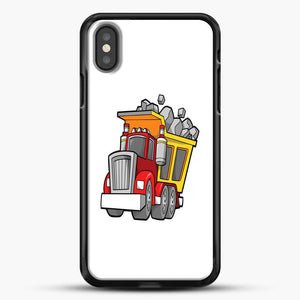 Construction Kid Dump Truck iPhone X Case, Black Rubber Case | JoeYellow.com