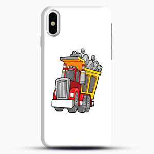 Construction Kid Dump Truck iPhone X Case, Black Snap 3D Case | JoeYellow.com