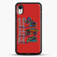 Load image into Gallery viewer, Construction Massive Machines iPhone XR Case, Black Rubber Case | JoeYellow.com