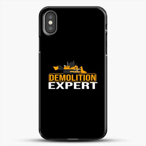 Construction Master Builder iPhone X Case, Black Plastic Case | JoeYellow.com