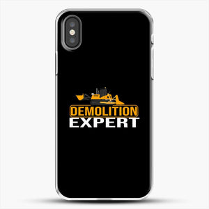 Construction Master Builder iPhone X Case, White Plastic Case | JoeYellow.com