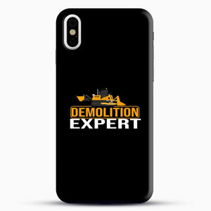 Construction Master Builder iPhone X Case, Black Snap 3D Case | JoeYellow.com