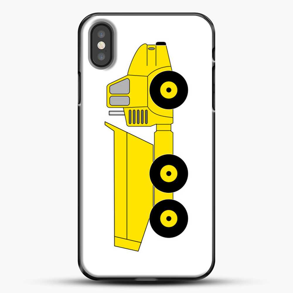 Construction Off Road Dump Truck iPhone X Case, Black Plastic Case | JoeYellow.com